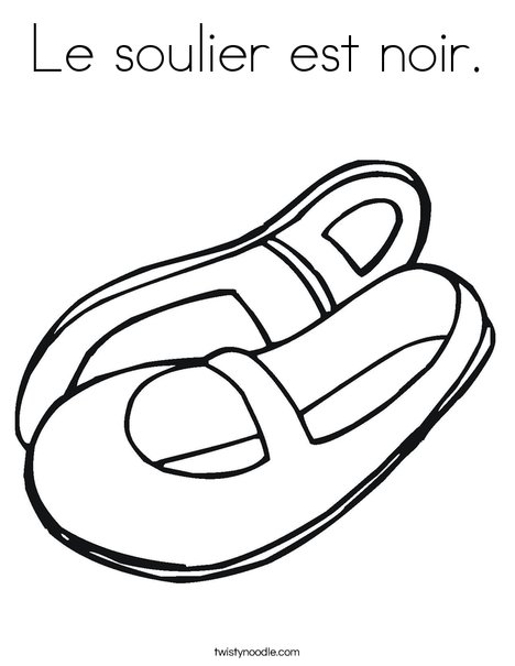 Mary Jane Shoes Coloring Page