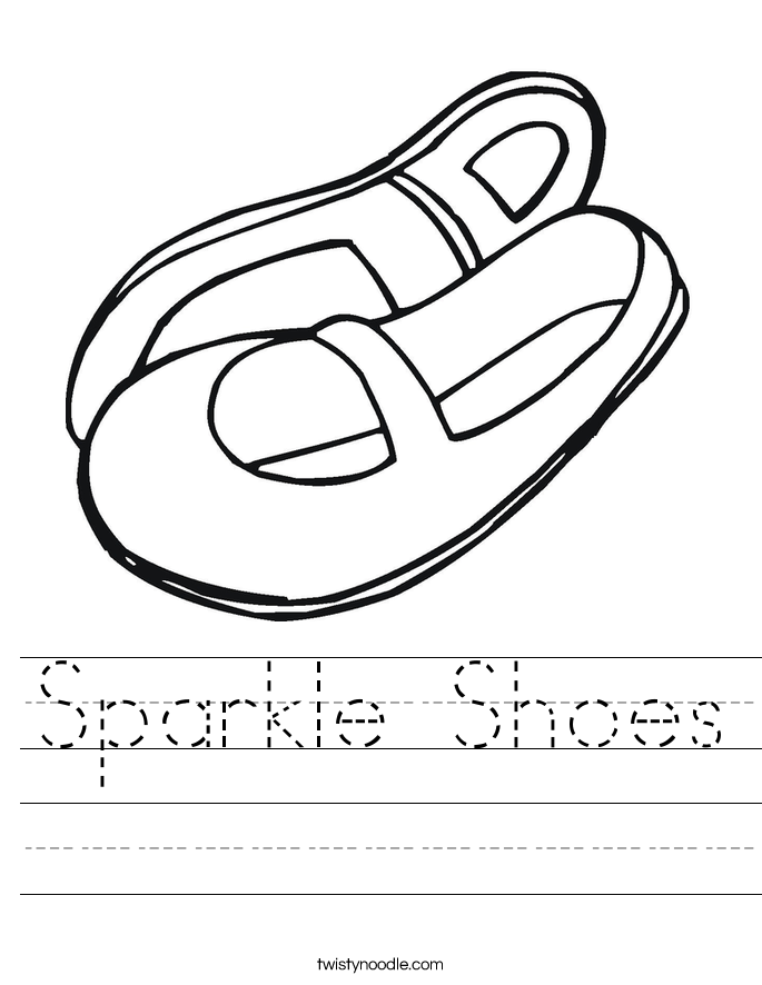 Sparkle Shoes Worksheet