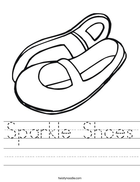 Mary Jane Shoes Worksheet