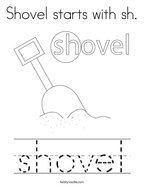 Shovel starts with sh Coloring Page