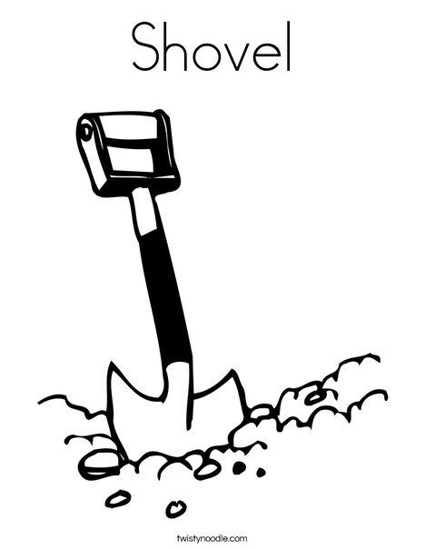 Shovel Coloring Page