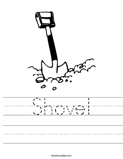Shovel Worksheet