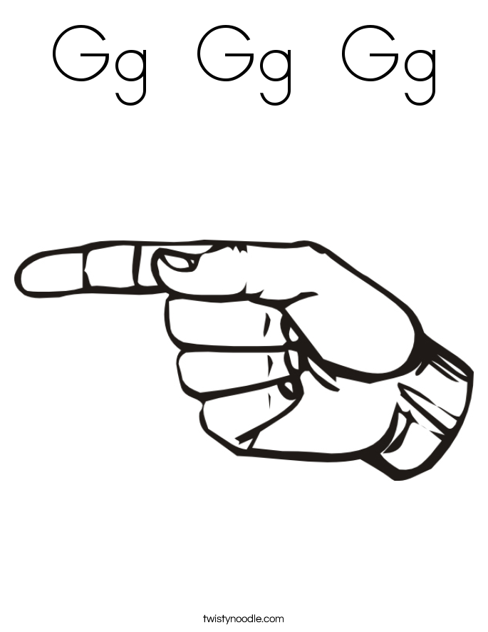 Sign Language Coloring Pages Twisty Noodle