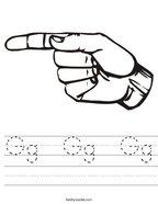 Gg  Gg  Gg Handwriting Sheet