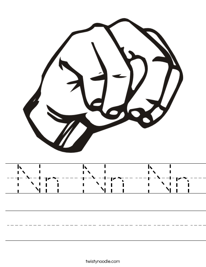 Nn Nn Nn Worksheet