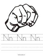 Nn Nn Nn Handwriting Sheet