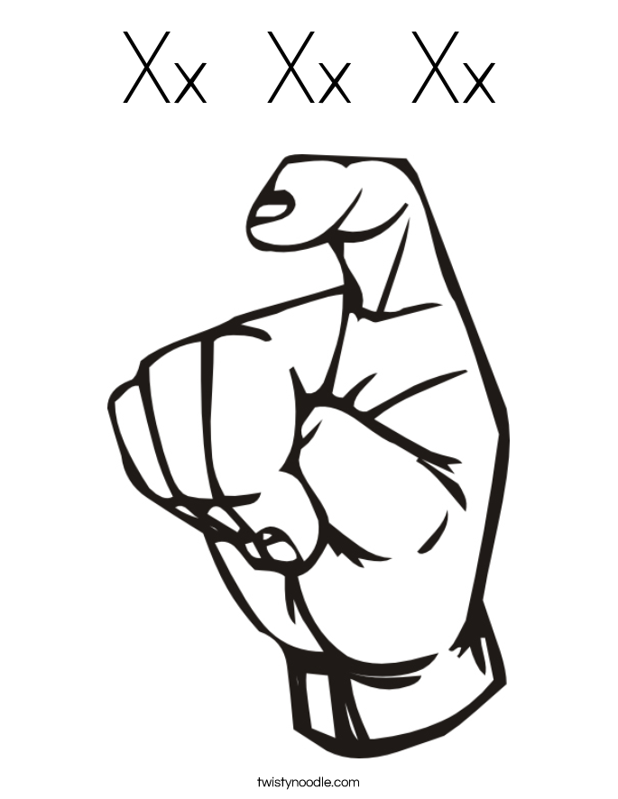 Xx  Xx  Xx Coloring Page