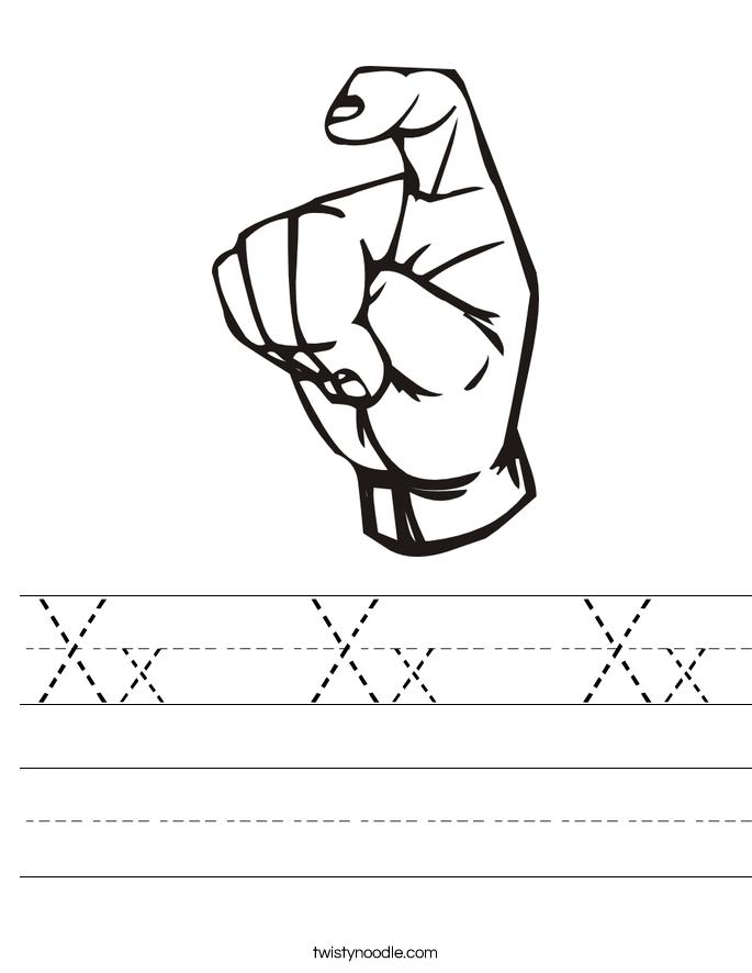 Xx  Xx  Xx Worksheet