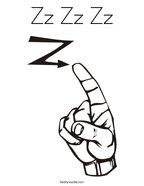 Zz Zz Zz Coloring Page