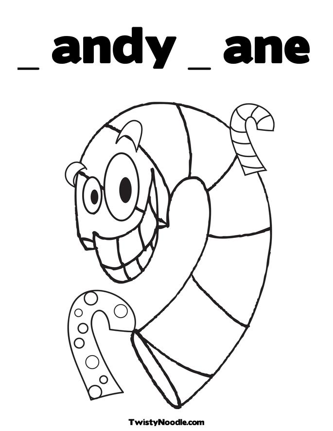 Candy Cane Poem Coloring Page