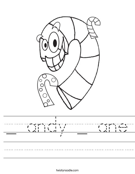 Silly Candy Cane Worksheet