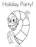 Holiday Party! Coloring Page