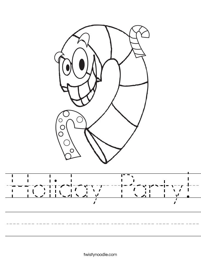 Holiday Party! Worksheet