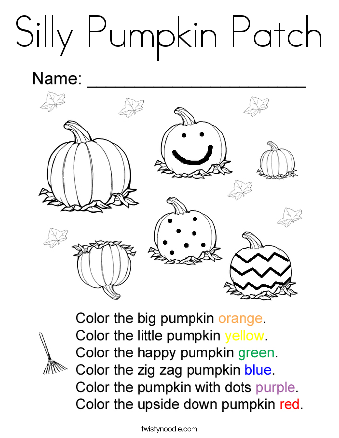 Silly pumpkin patch coloring page twisty noodle Thanksgiving Coloring Pages pumpkin patch coloring pictures Pumpkin Patch Scarecrow Coloring Page