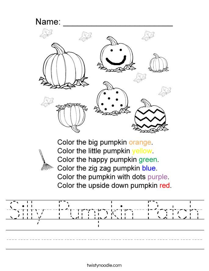 Silly Pumpkin Patch Worksheet