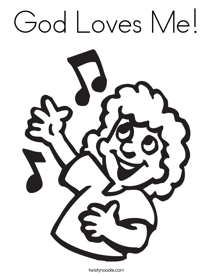 God Loves Me! Coloring Page