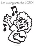 Let us sing unto the LORD!Coloring Page