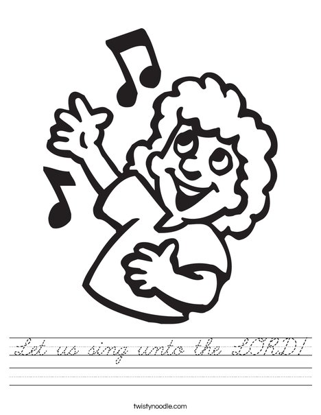 Singer with Notes Worksheet