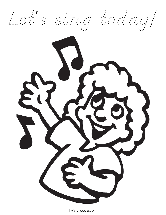 Let's sing today! Coloring Page