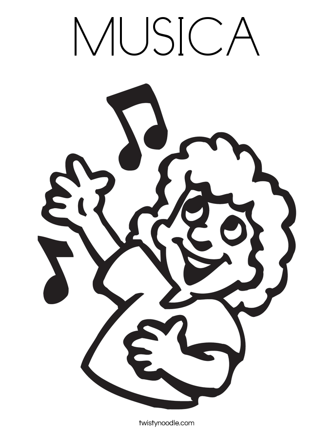 MUSICA Coloring Page