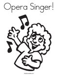 Opera Singer!Coloring Page
