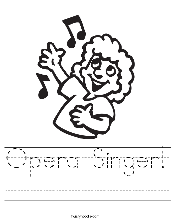 Opera Singer! Worksheet