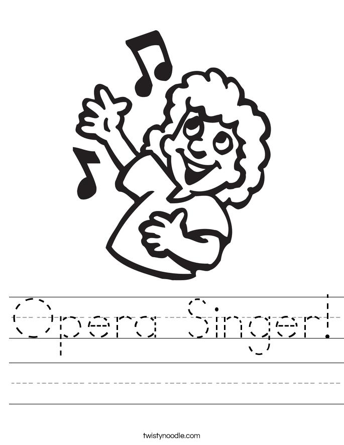 Opera Singer! Worksheet