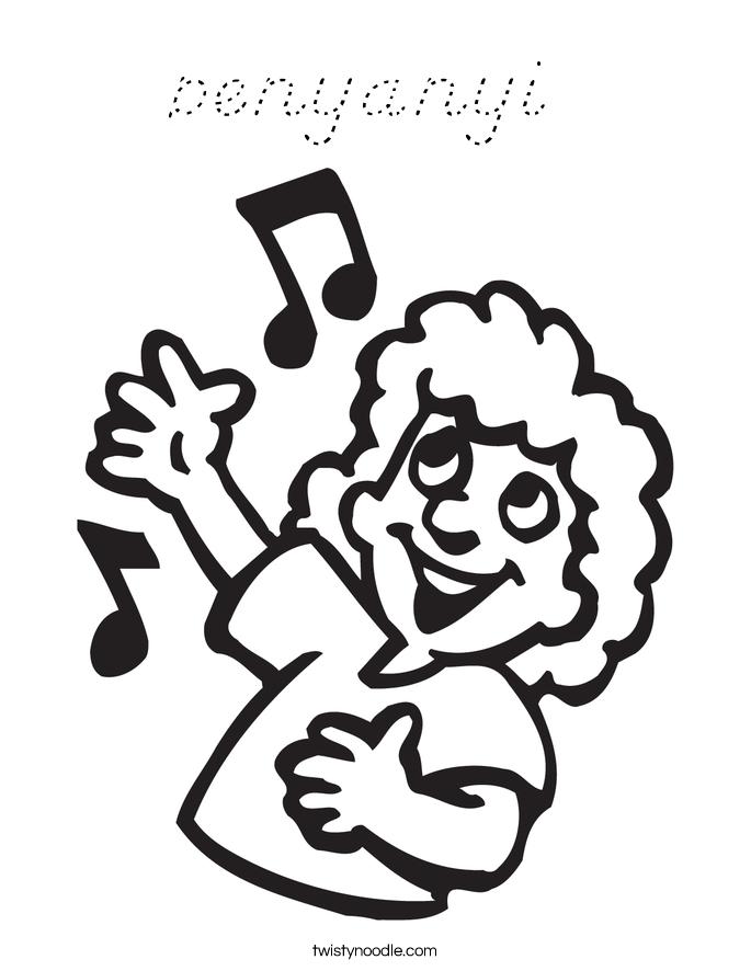 penyanyi Coloring Page