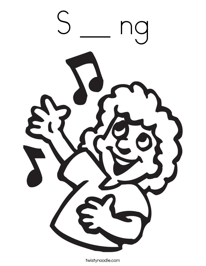 S __ ng Coloring Page
