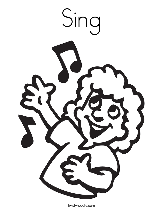 Sing Coloring Page