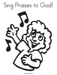 Sing Praises to God!Coloring Page