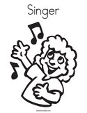 Singer Coloring Page