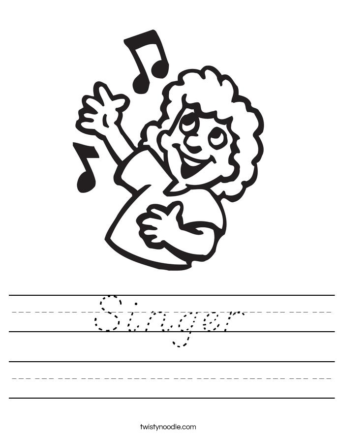 Singer Worksheet