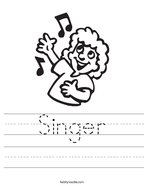 Singer Handwriting Sheet