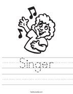 Singer Handwriting Sheet