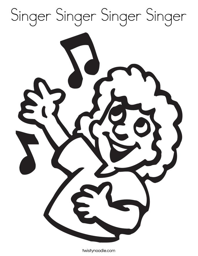 Singer Singer Singer Singer Coloring Page