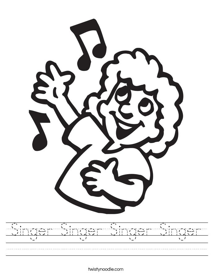 Singer Singer Singer Singer Worksheet