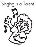 Singing is a TalentColoring Page