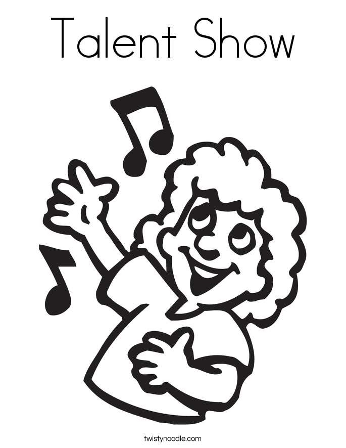Talent Show Coloring Page Twisty