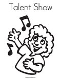 Talent Show Coloring Page