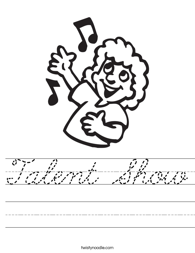 Talent Show Worksheet