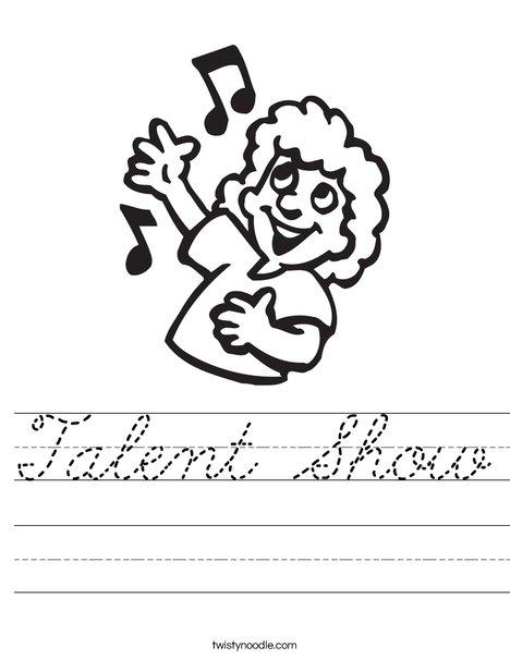 Singer with Notes Worksheet