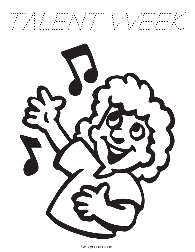 TALENT WEEK Coloring Page
