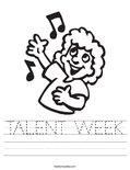 TALENT WEEK Worksheet