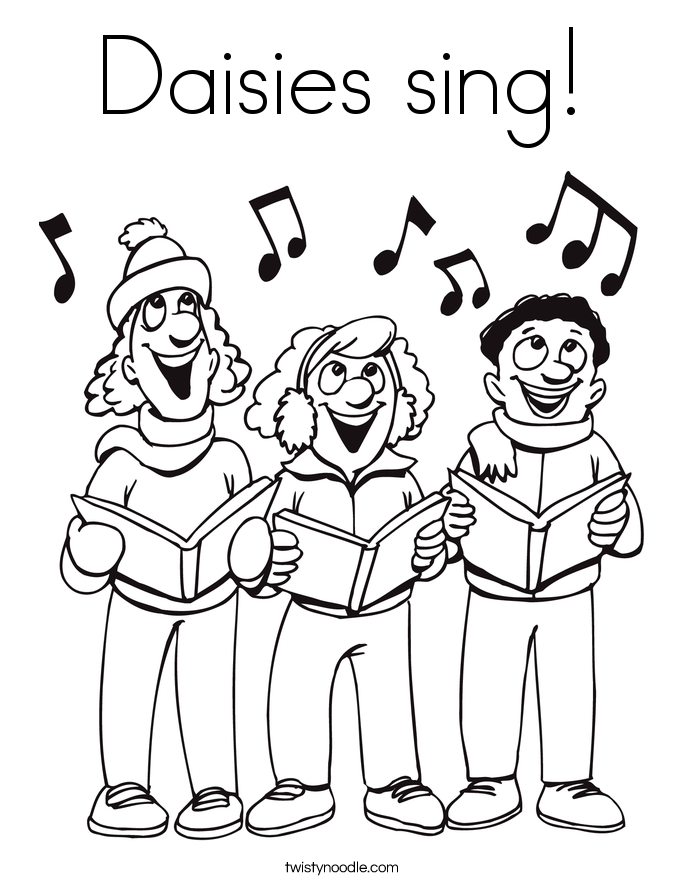 Daisies sing! Coloring Page