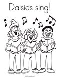 Daisies sing!Coloring Page