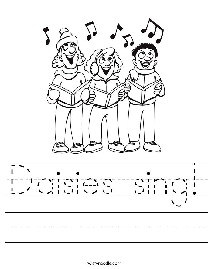 Daisies sing! Worksheet