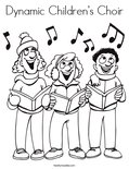 Dynamic Children's Choir Coloring Page