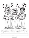 Dynamic Children's Choir Worksheet