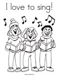 I love to sing! Coloring Page